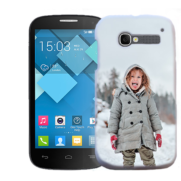 Funda Alcatel One Touch Pop C5 Carcasa Dura Personalizada Hardcase - Blanco