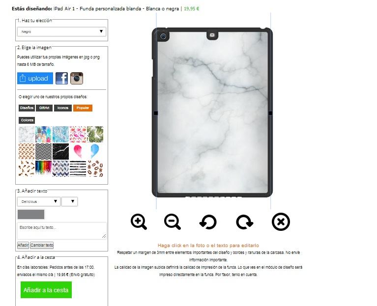 create your own ipad air case
