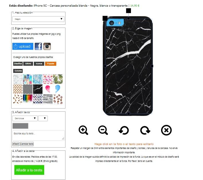 Customized iPhone 5C case