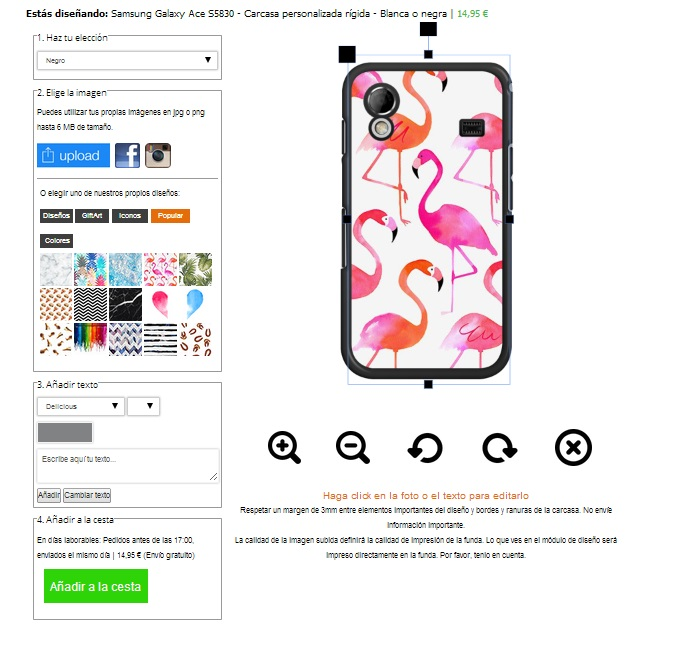 create your own Samsung Galaxy Ace case