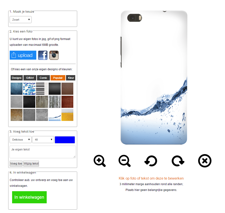 Make your own Huawei Ascend P8 Lite hard case