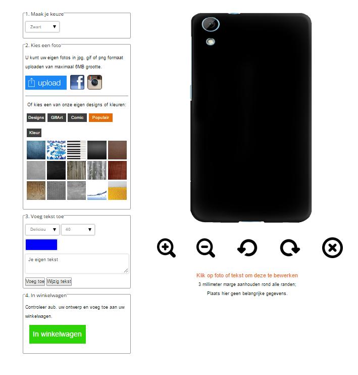 Personalized HTC desire 820 phone case