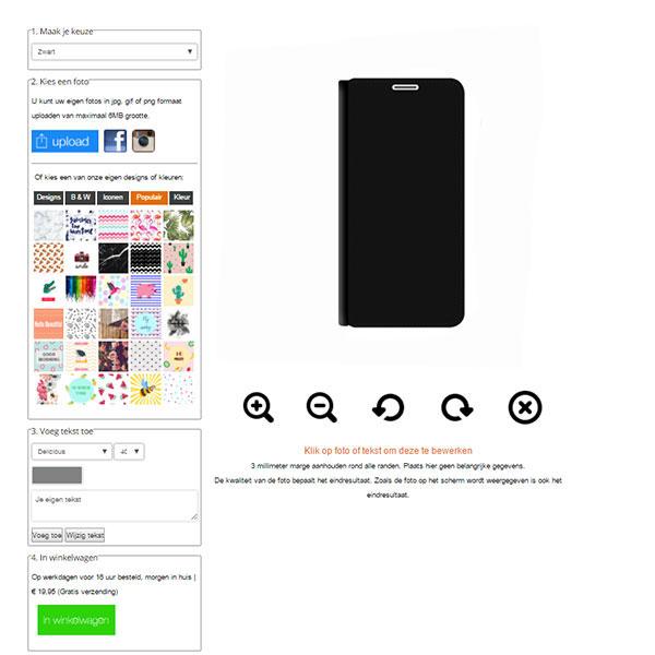 Galaxy S8 walletcase maken