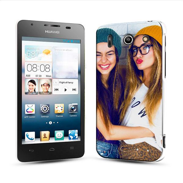 Huawei G510 - Funda Dura Personalizada - Negro o Blanco