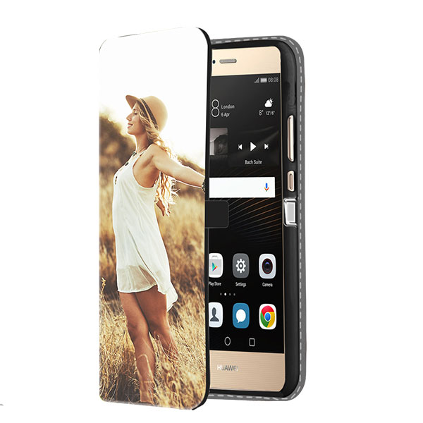 huawei p8 case selbst gestalten flip cover mit foto. Black Bedroom Furniture Sets. Home Design Ideas