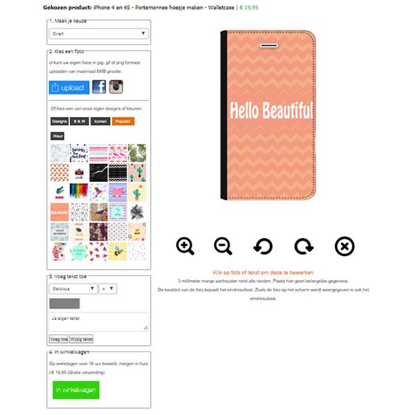 coque personnalisée iPhone 4 et 4s, coque portefeuille