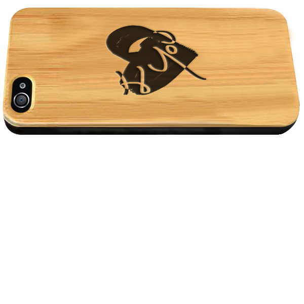 Personalized iPhone 4 wooden case
