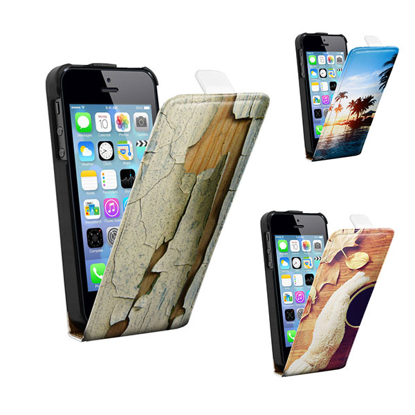 Protect your screen reliably with a custom flip case for your iPhone 5 ...