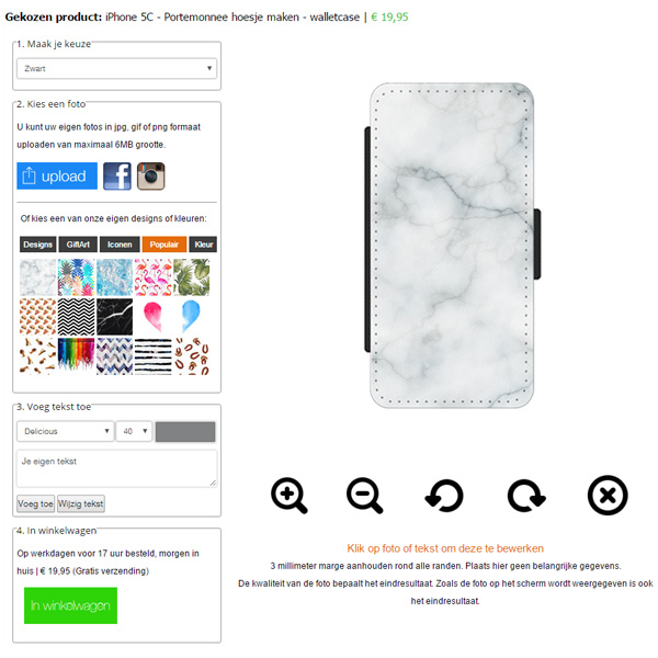 Custom iPhone 5C wallet case