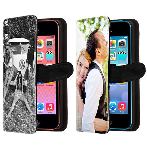 iphone 5c portemonnaie h lle selbst gestalten handyh lle mit foto und text walletcase. Black Bedroom Furniture Sets. Home Design Ideas