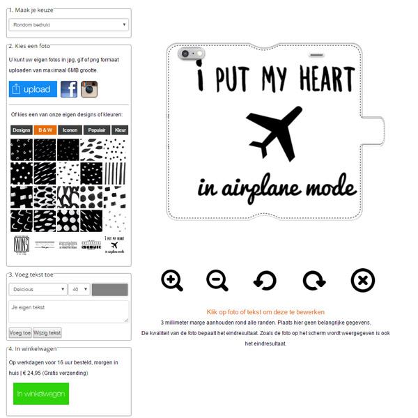 personalised iPhone 7 Plus wallet case