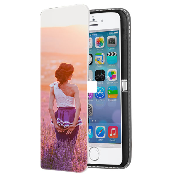 funda personalizada iPhone 5(S) y iPhone SE billetero