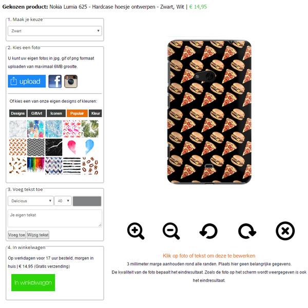 custom Nokia Lumia 625 case