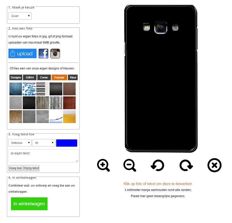 Create your own Samsung Galaxy A7 case