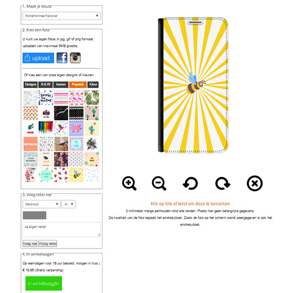 Samsung Galaxy Note 4 walletcase maken
