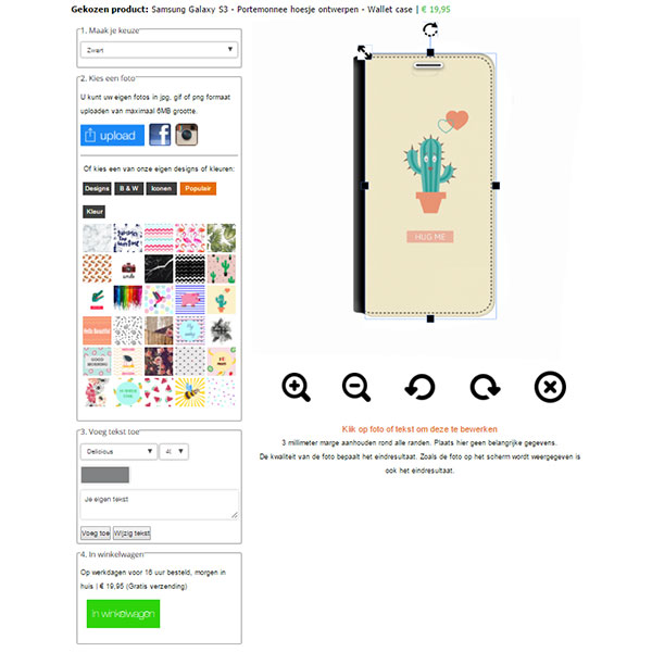 Personalised Samsung Galaxy S3 wallet case