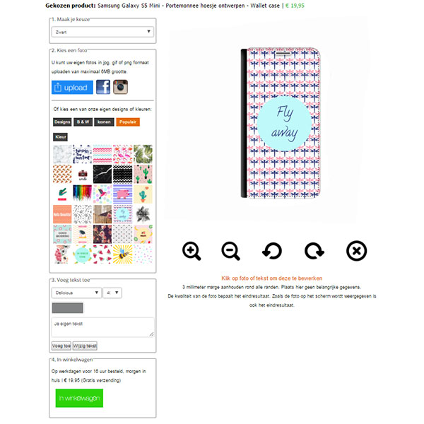 Galaxy S5 walletcase maken