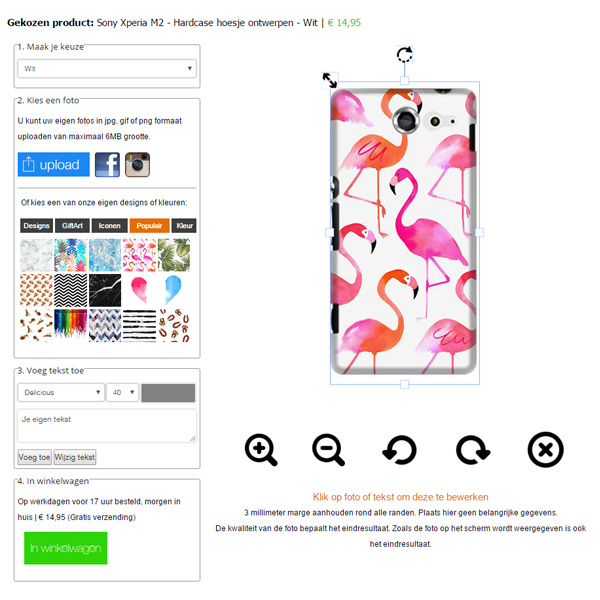 Make your own Sony Xperia M2 hard case