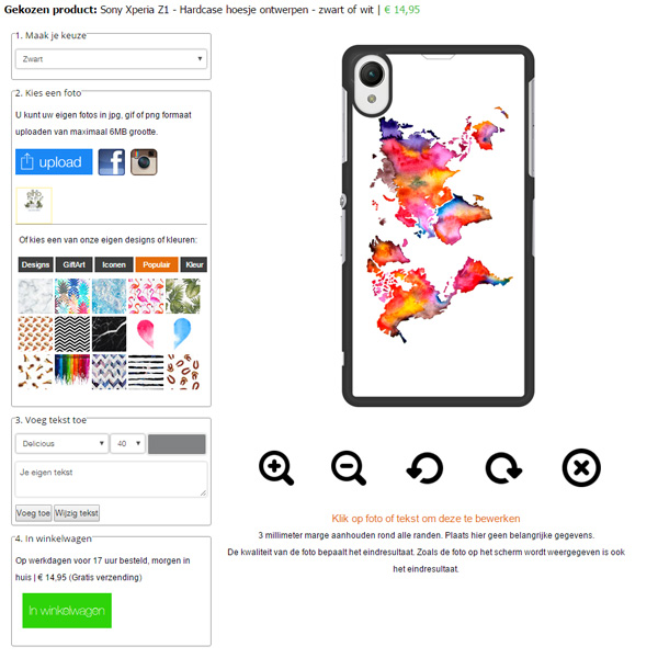 Personalized Sony Xperia Z1 phone case