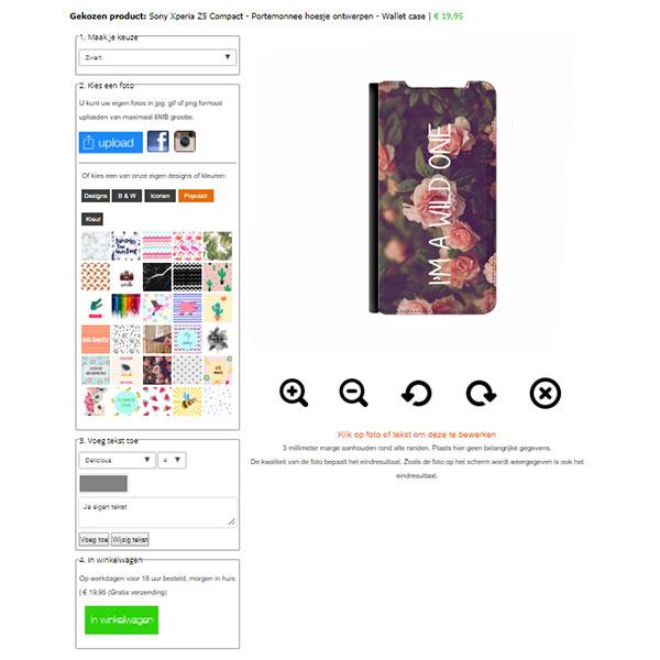 coque Sony Xperia Z5 compact portefeuille