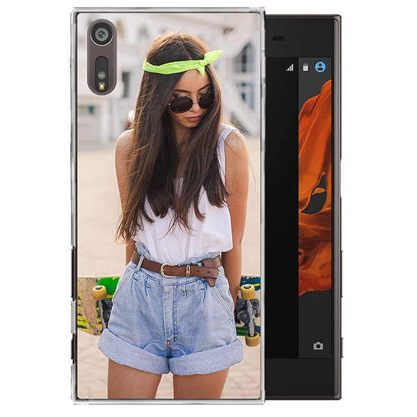 sony xperia xz h lle selbst gestalten transparentes hardcase. Black Bedroom Furniture Sets. Home Design Ideas
